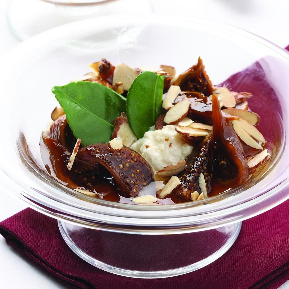 Marsala-Poached Figs over Ricotta