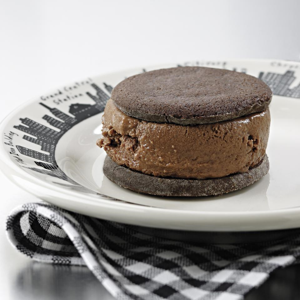 Chocolate Malt Ice Cream Sandwiches