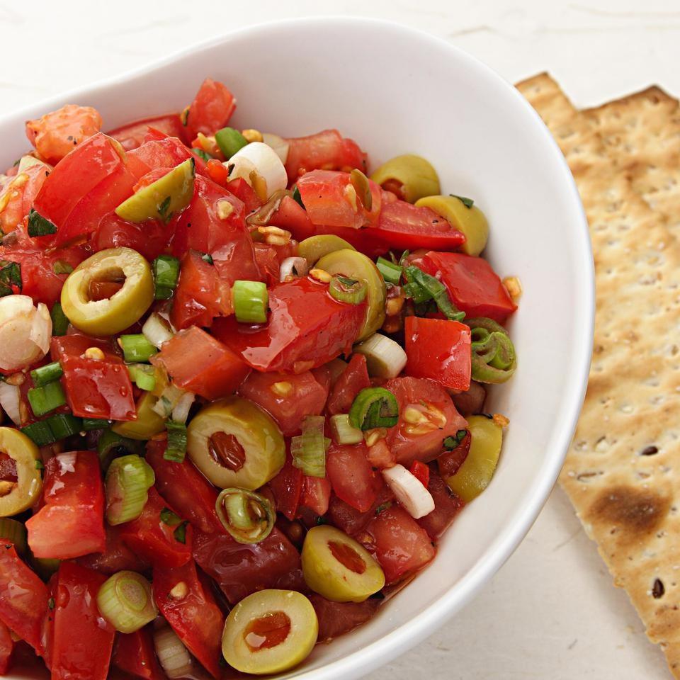 Tomato & Green Olive Salsa