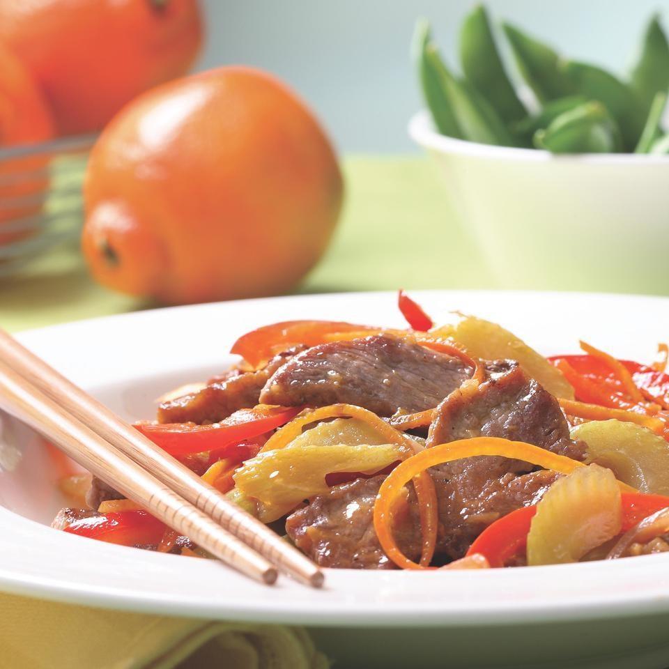 Tangelo Pork Stir-Fry