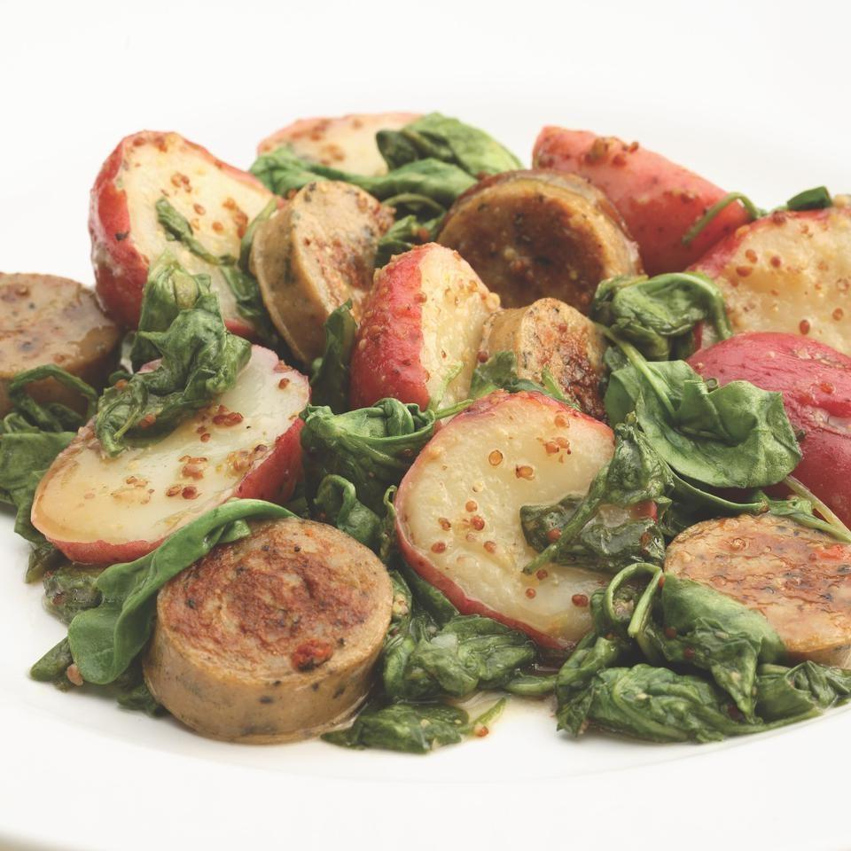 Warm Chicken Sausage & Potato Salad