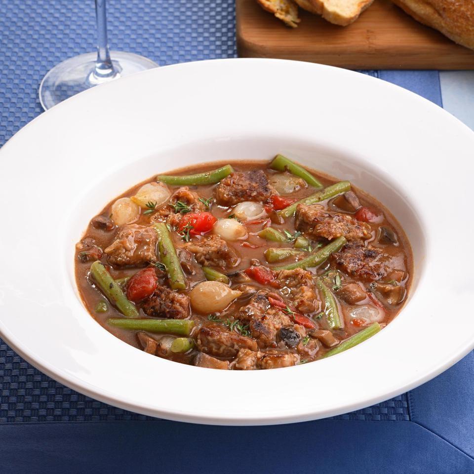 Sirloin & Portobello Stew