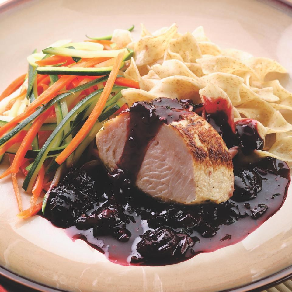 Turkey Tenderloin with Whiskey-Cherry Sauce