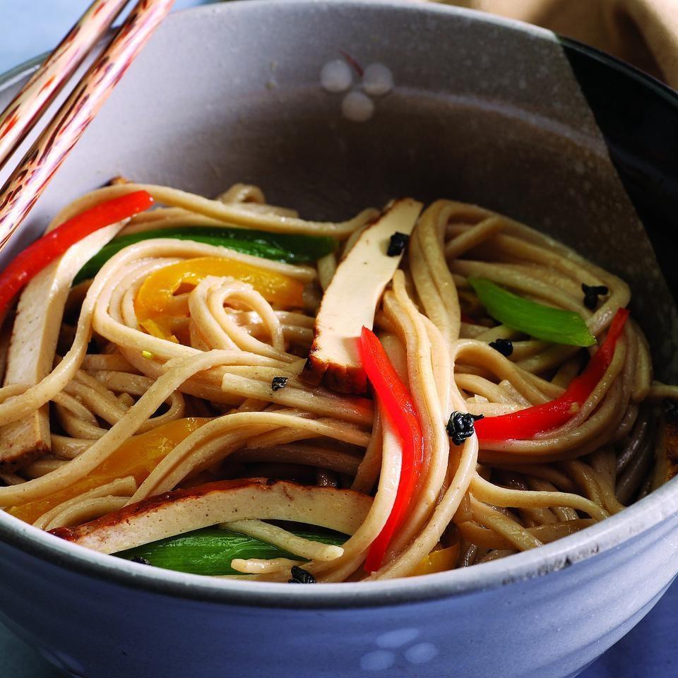 Stir-Fried Noodles with Green Tea