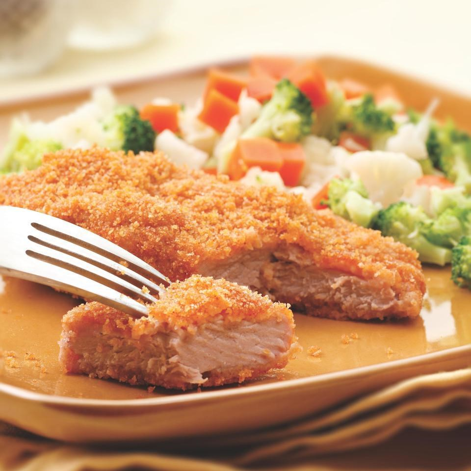 Golden Baked Pork Cutlets