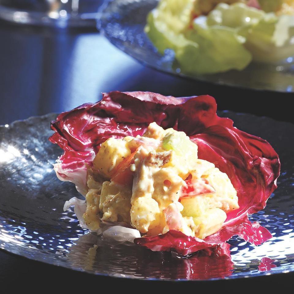 Potato Salad in Radicchio Cups