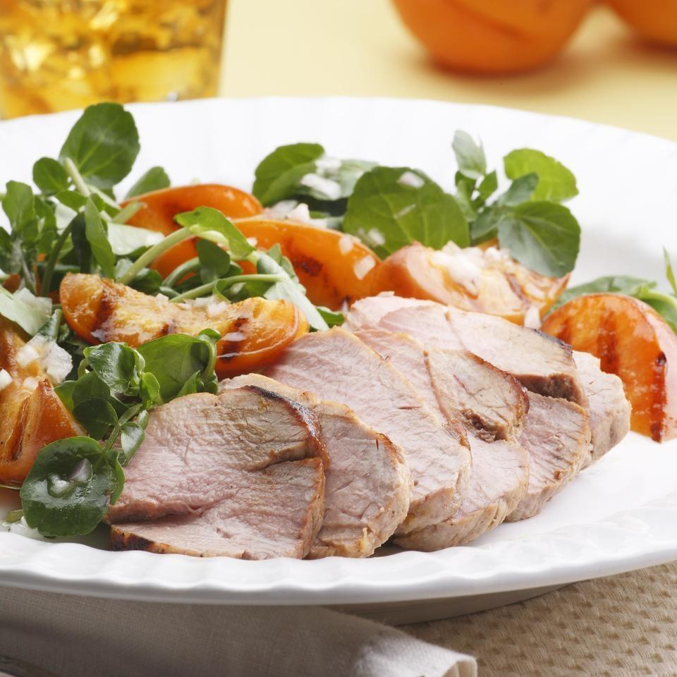 Grilled Pork Tenderloin & Apricot Salad