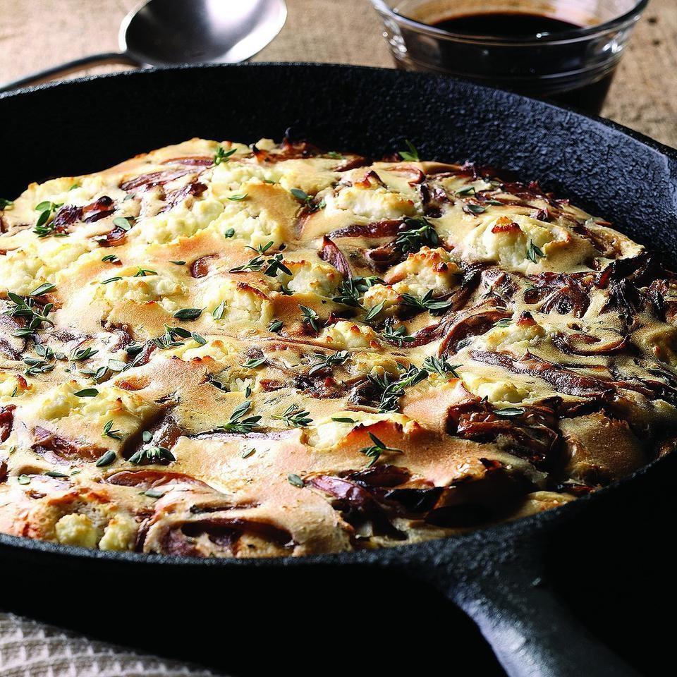 Red Onion & Goat Cheese Pancake