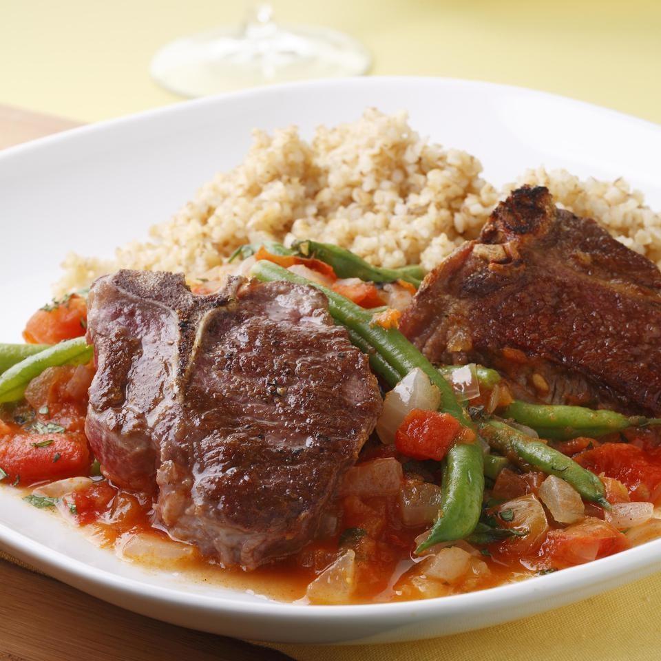 Lamb Chops with Lebanese Green Beans