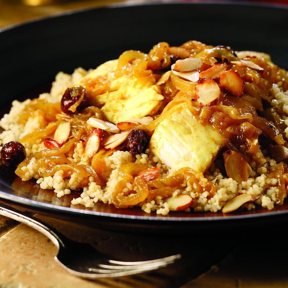 Fish Couscous with Onion T'faya