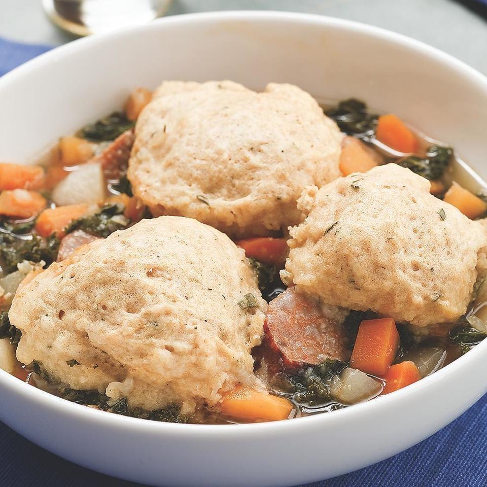 Root Vegetable Stew with Herbed Dumplings
