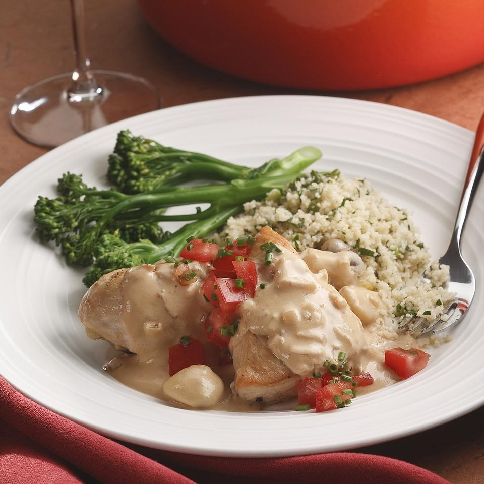 Chicken in Garlic-Vinegar Sauce