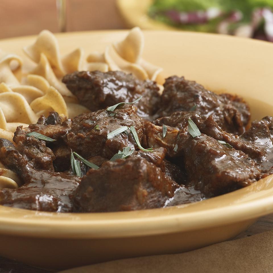 Braised Beef & Mushrooms