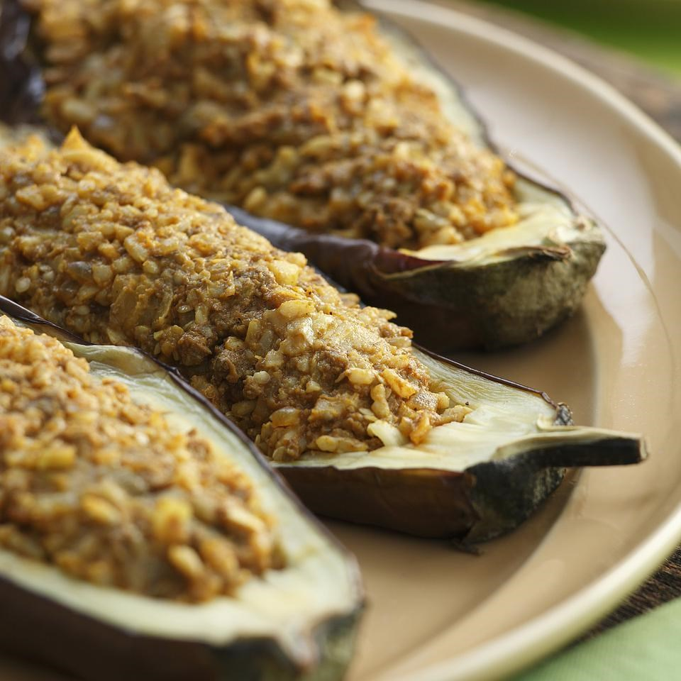 Indian-Spiced Stuffed Eggplant