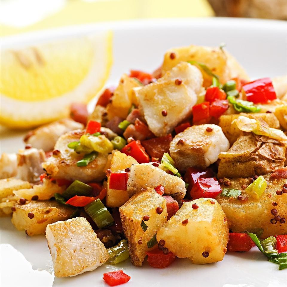 Catfish & Potato Hash for Two