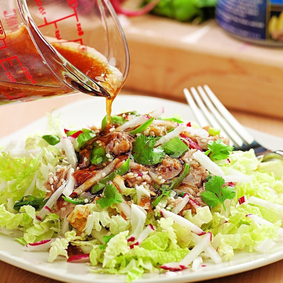 Sesame tuna salad recipe eatingwell for Tuna fish salad recipe