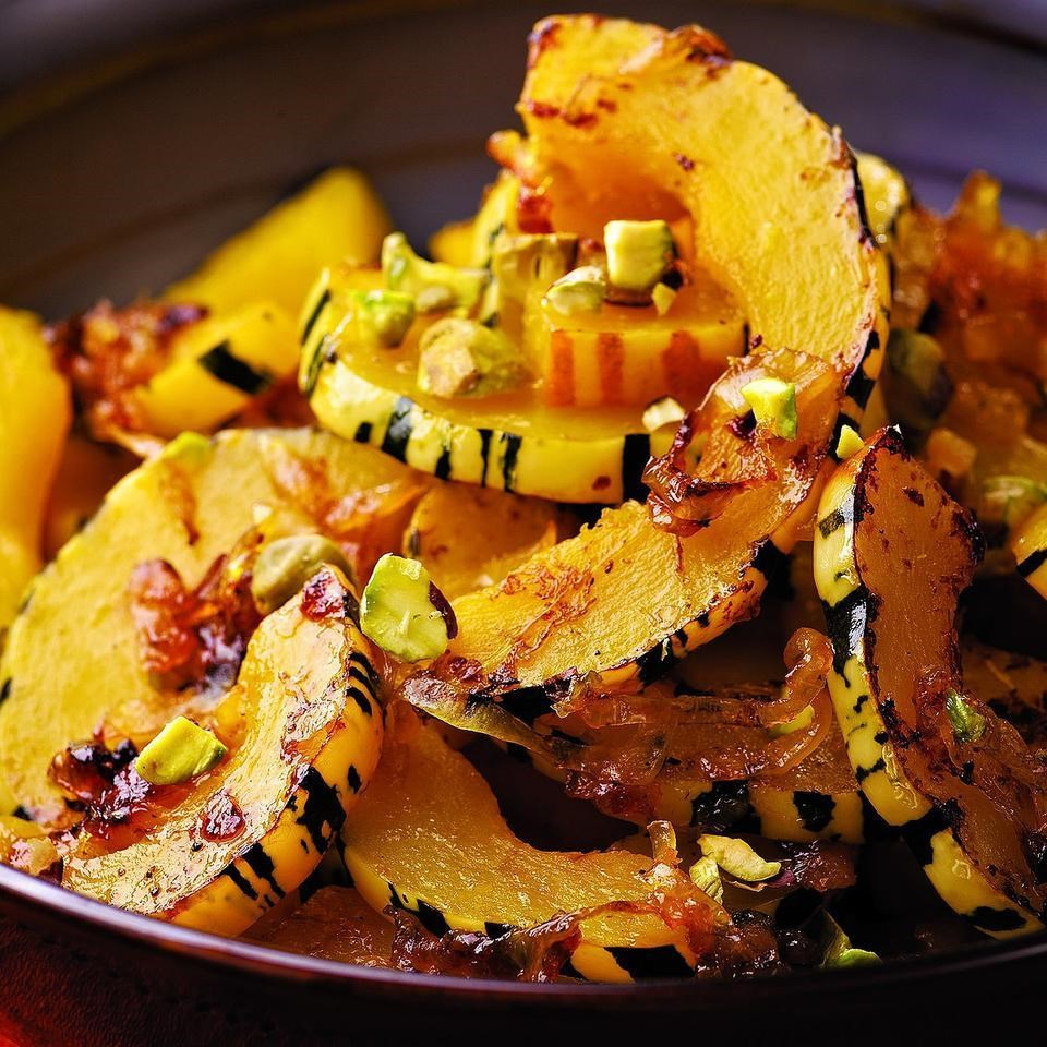 Delicata Squash with Orange & Pistachios