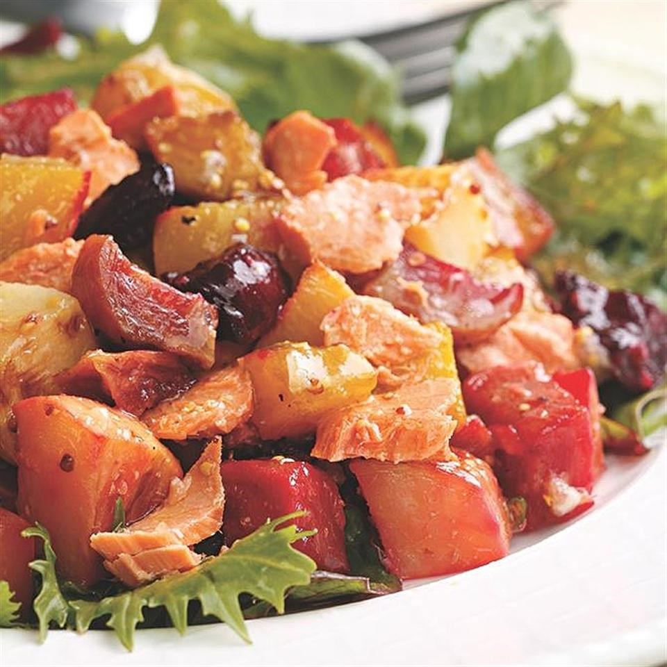 Salmon & Roasted Vegetable Salad