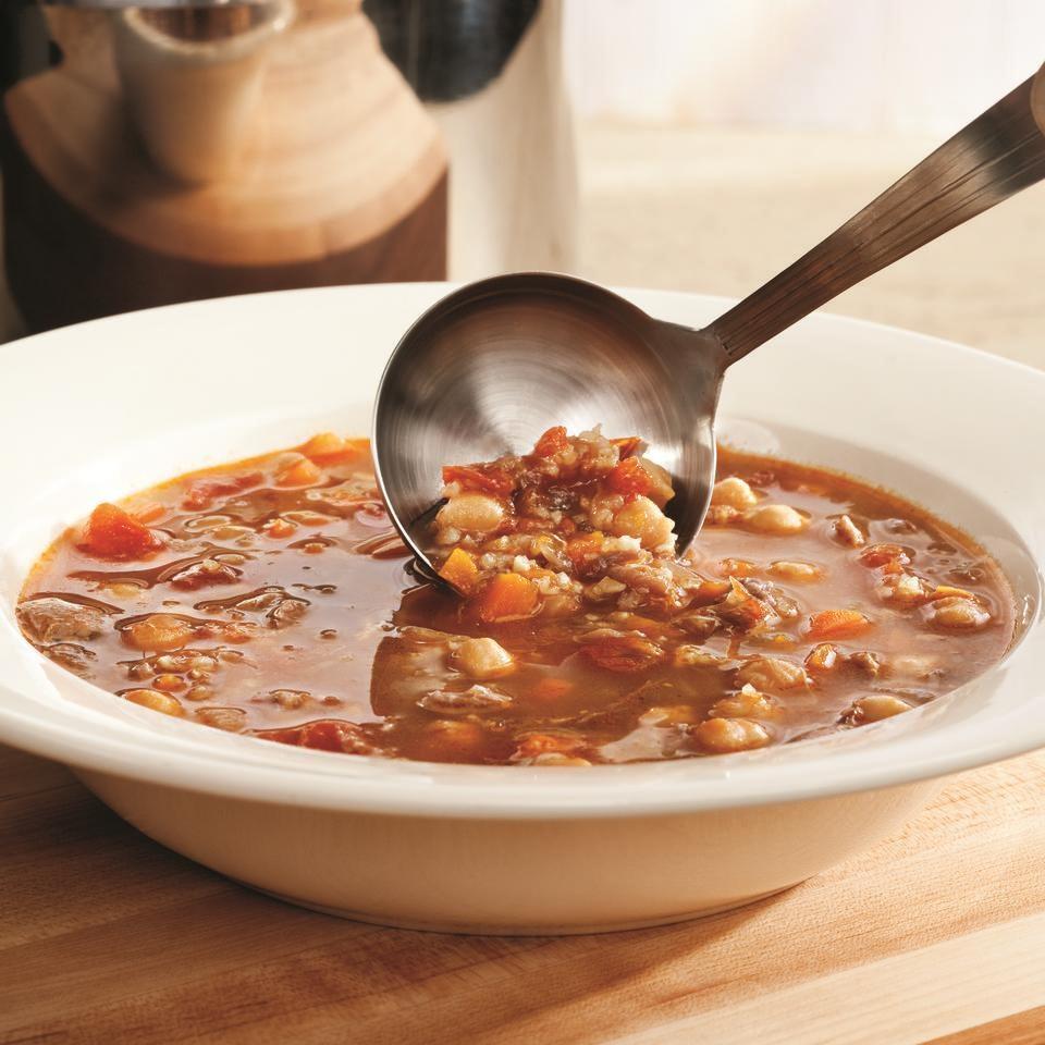 Turkish Chickpea & Lamb Soup