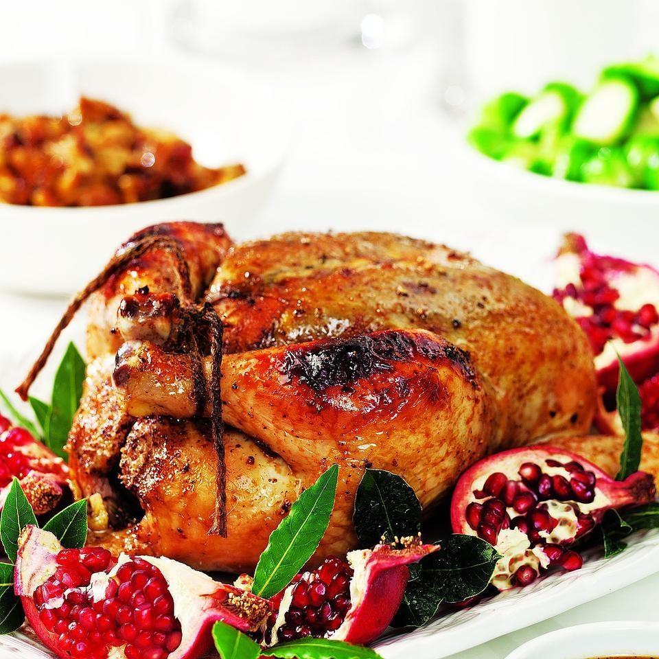 Roast Chicken with Pomegranate Glaze