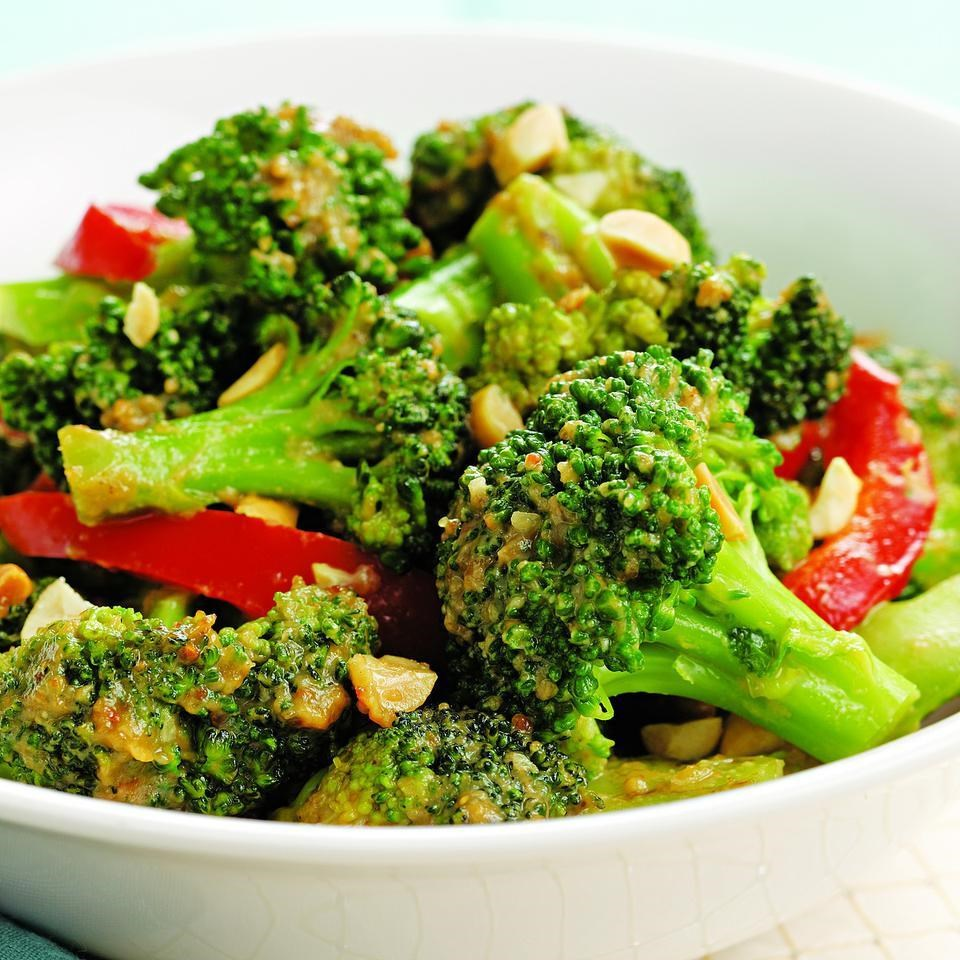 Spicy stir fried broccoli peanuts recipe eatingwell for Good side dishes to serve with a fish fry