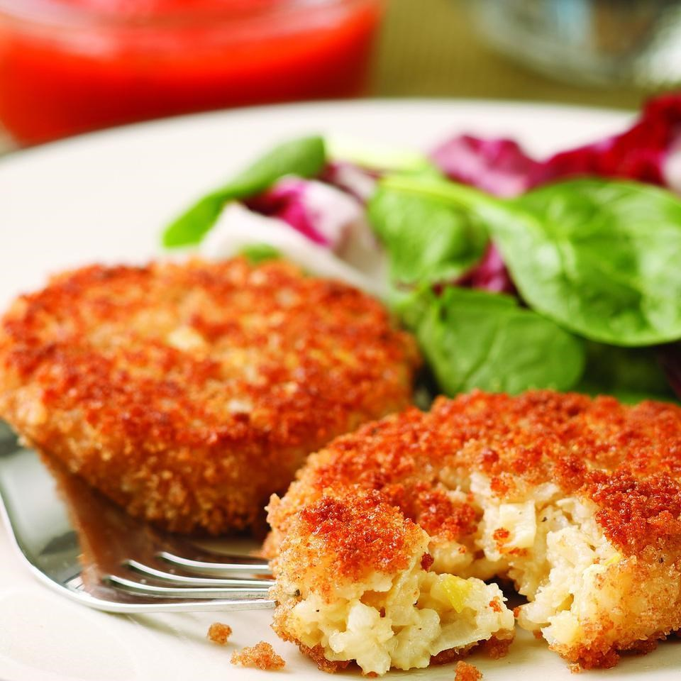 Risotto Cakes With Egg