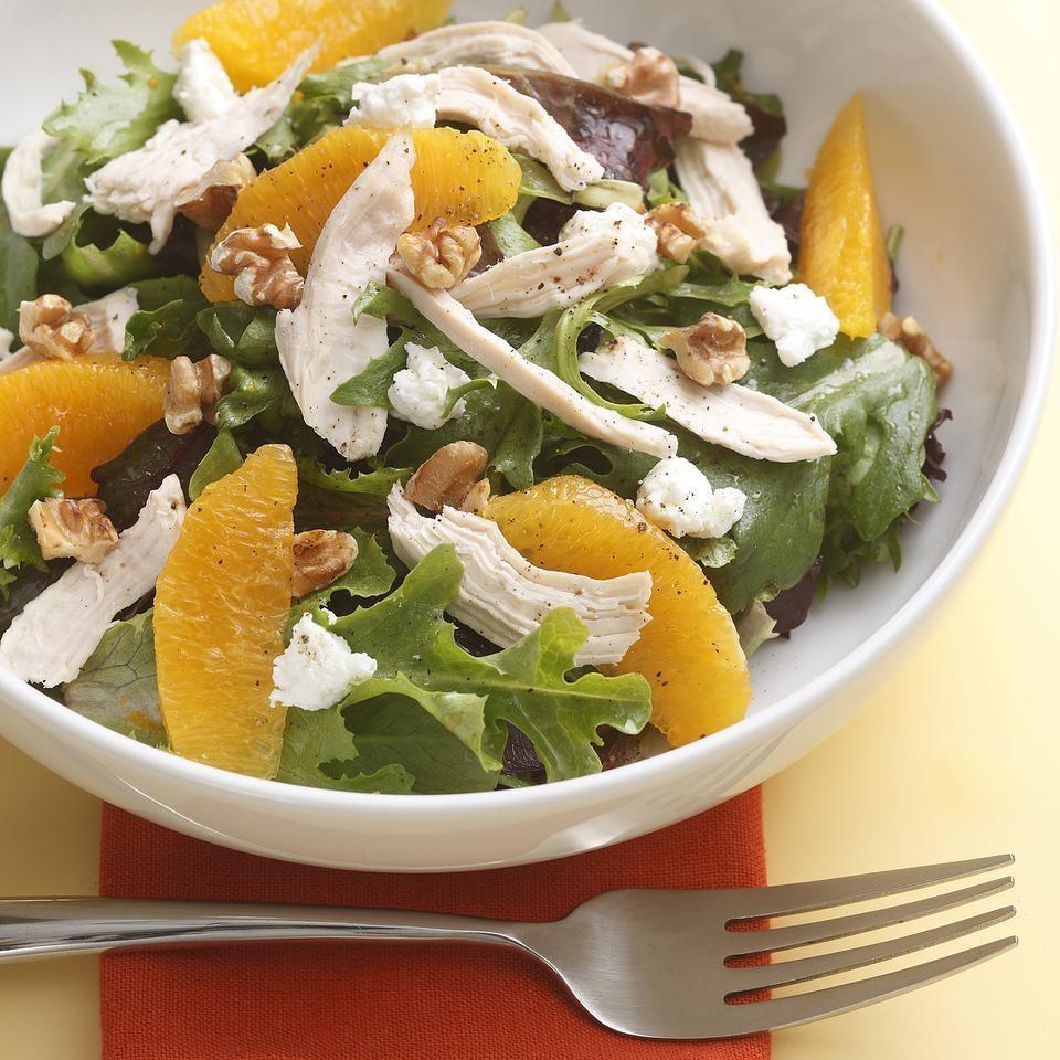 Orange-Walnut Salad with Chicken