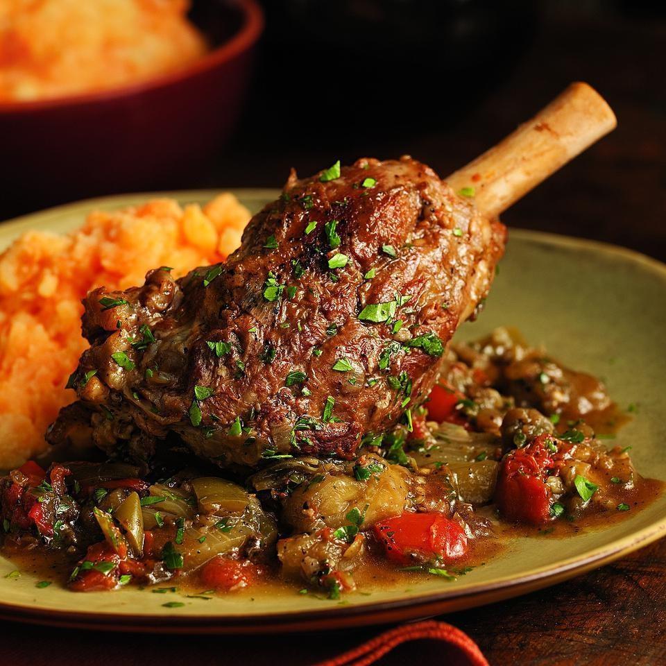 Braised Lamb Shanks & Eggplant Recipe