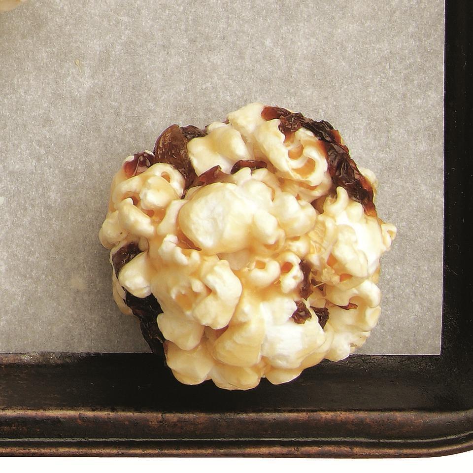 Caramel-Raisin Popcorn Balls
