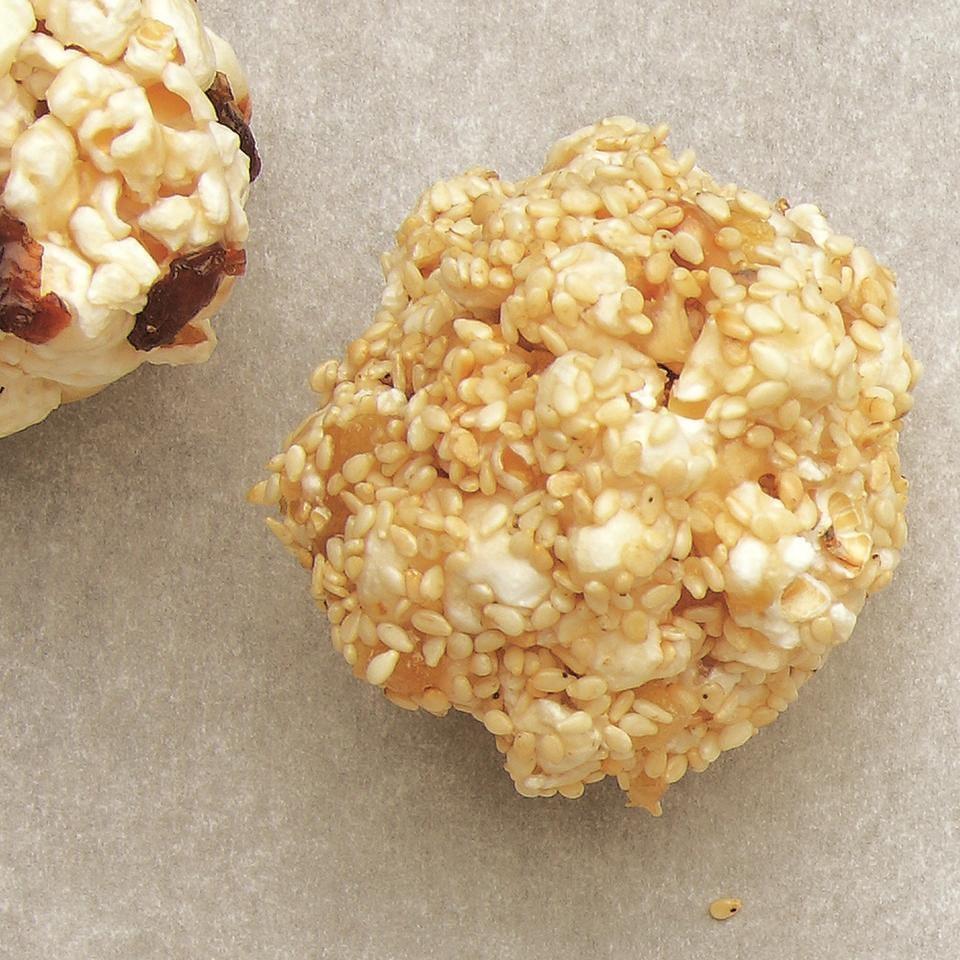 Sesame-Ginger Popcorn Balls