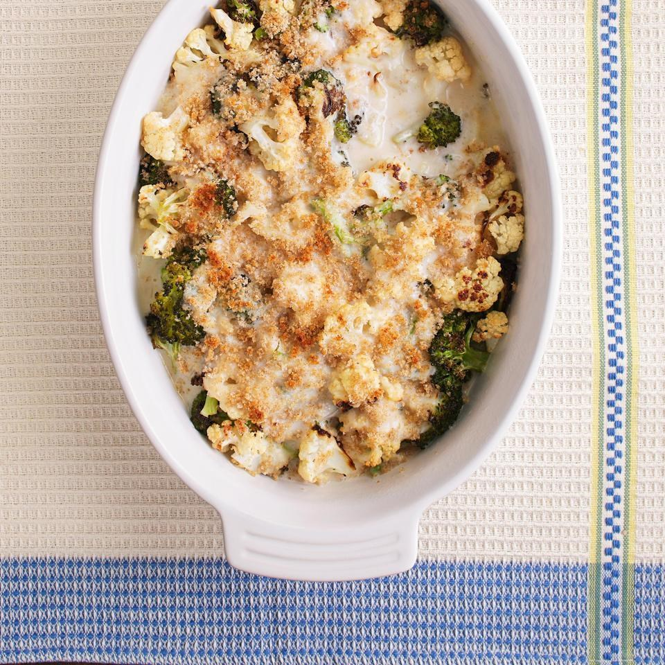 Cauliflower-Broccoli Gratin