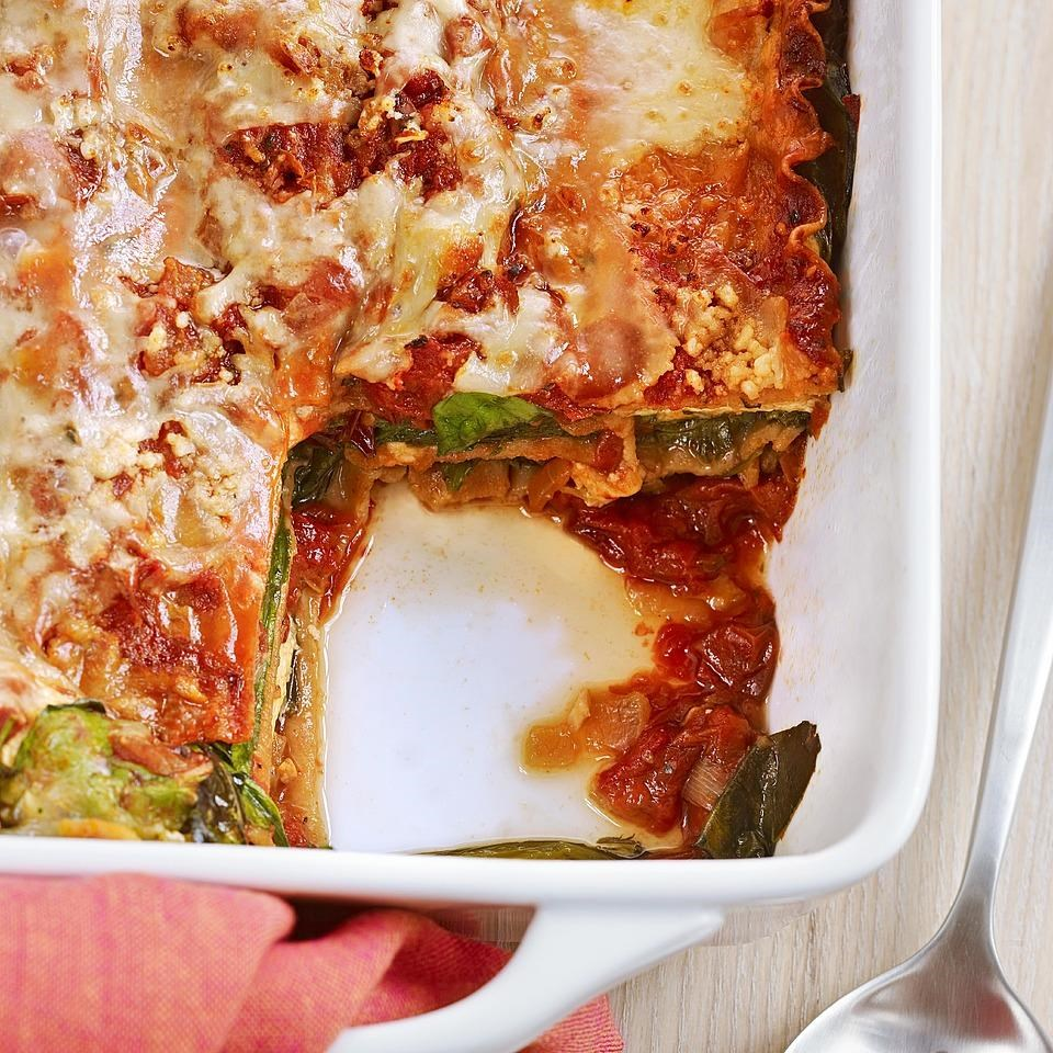 Lasagna with Slow-Roasted Tomato Sauce