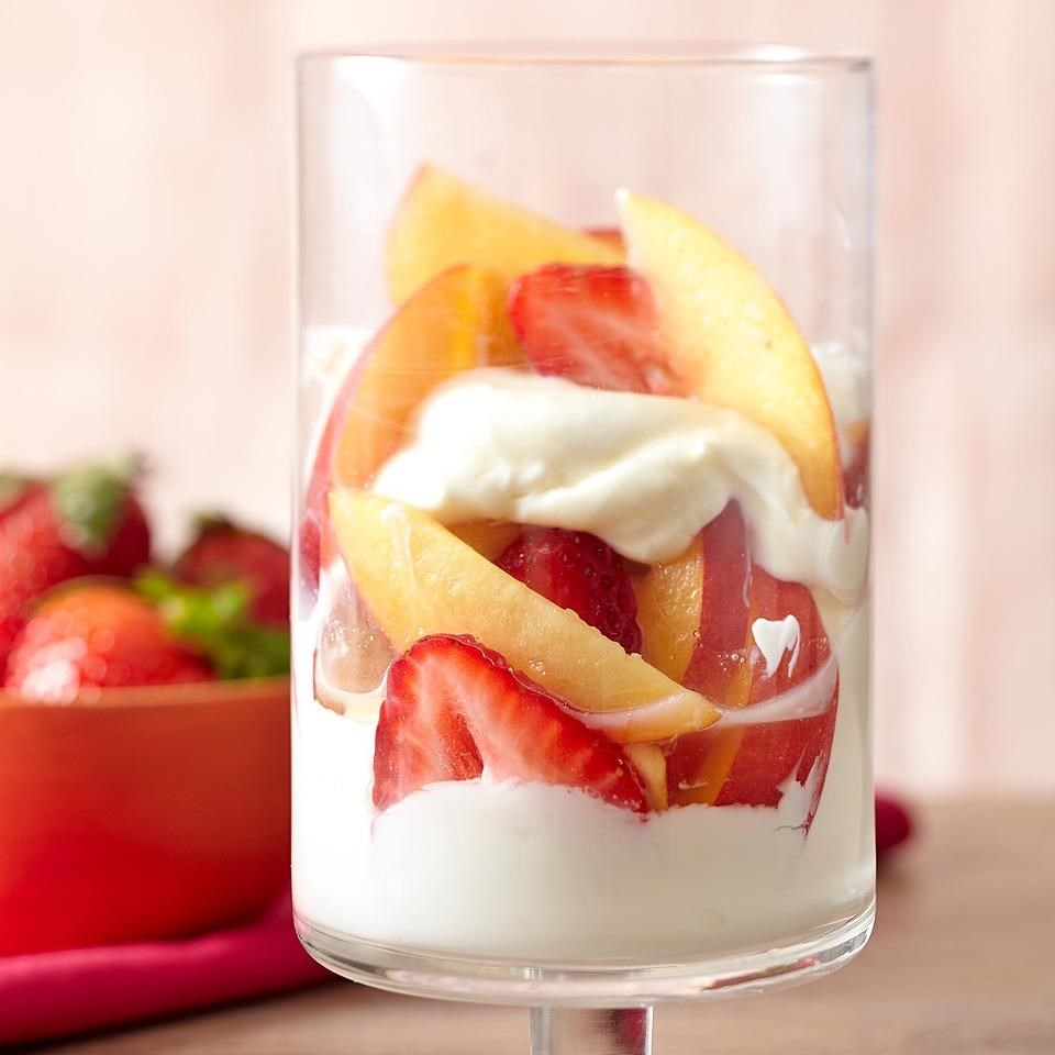 Nectarine & Strawberry Parfait