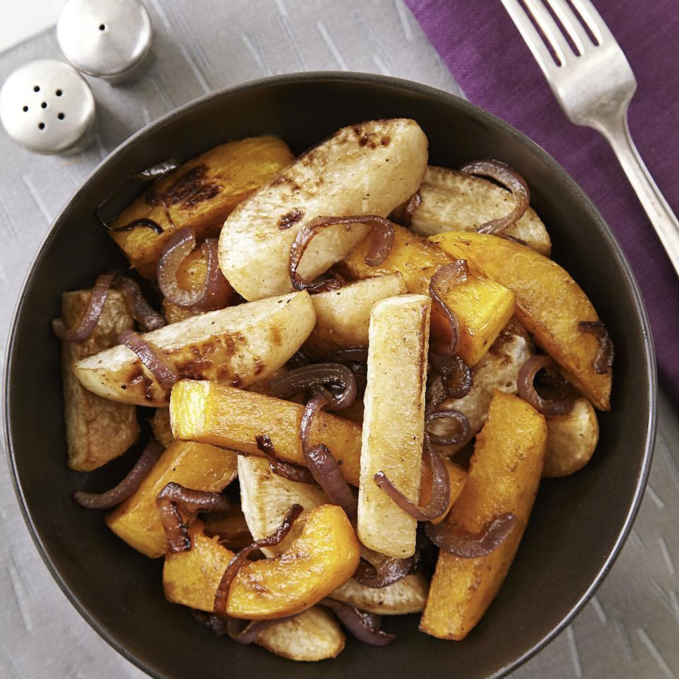 Roasted Turnips & Butternut Squash with Five-Spice Glaze