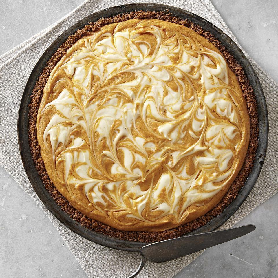 Sweet Potato Pie with Cream Cheese Swirl