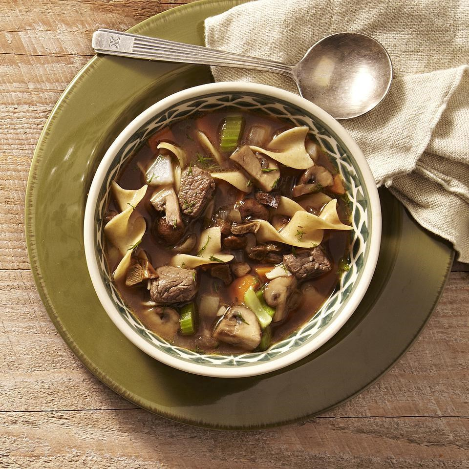 how to cut mushrooms for soup