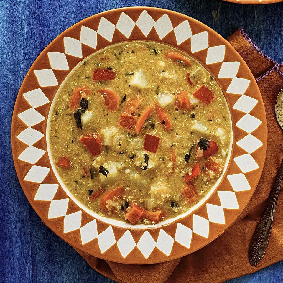Quinoa Peanut Soup (Sopa de Mani)