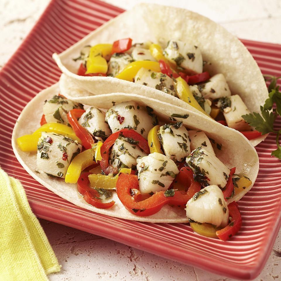 Scallop & Pepper Tacos