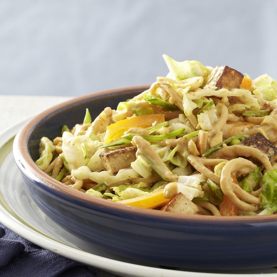 Roasted Tofu & Peanut Noodle Salad