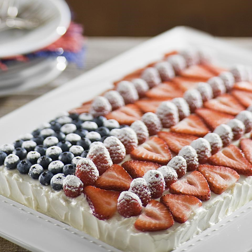 EatingWell Flag Cake Recipe