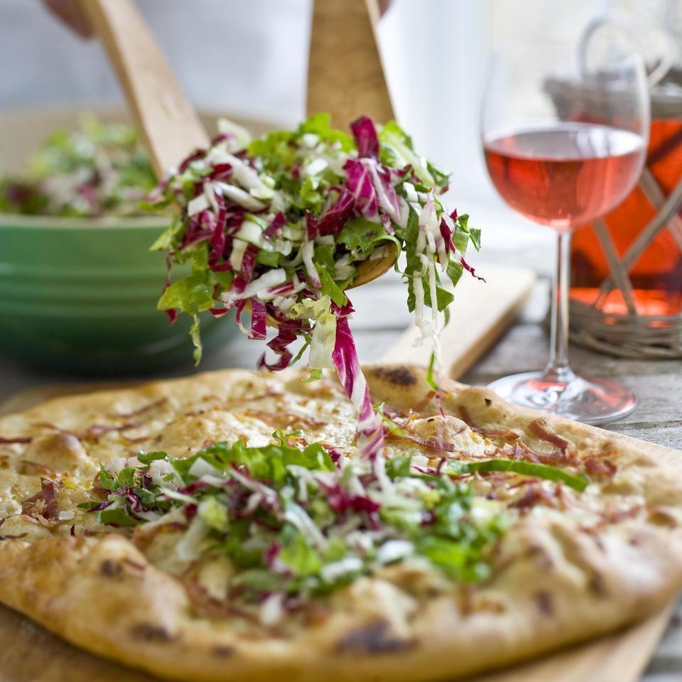 Prosciutto, Asiago & Bitter Greens Pizz'alad