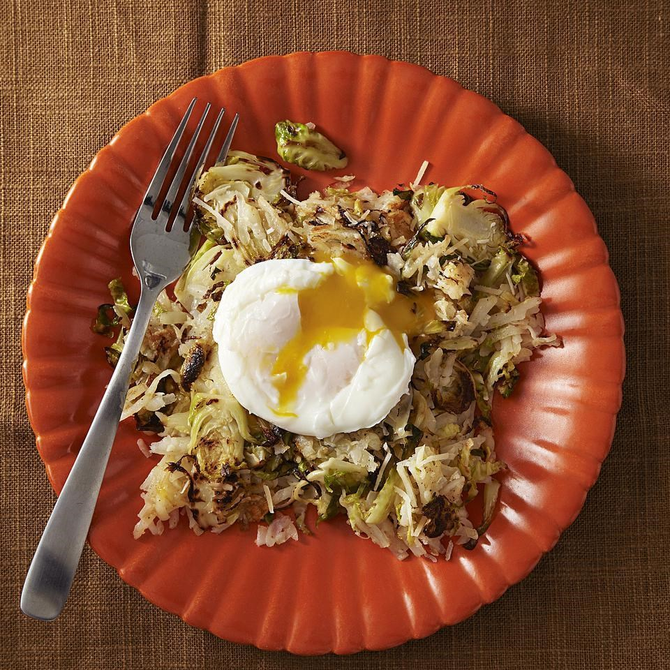 Brussels Sprout & Potato Hash for Two