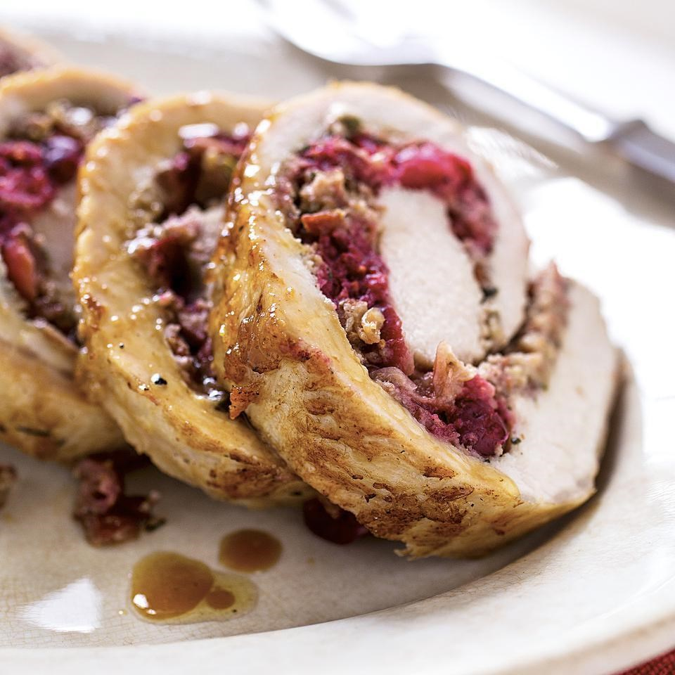 Cranberry-Rosemary Stuffed Pork Loin Recipe