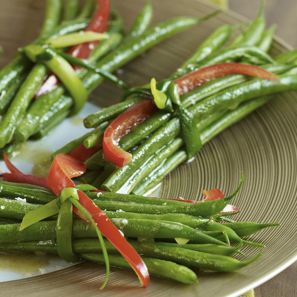 Green Bean Bundles With Garlic Browned Butter Recipe