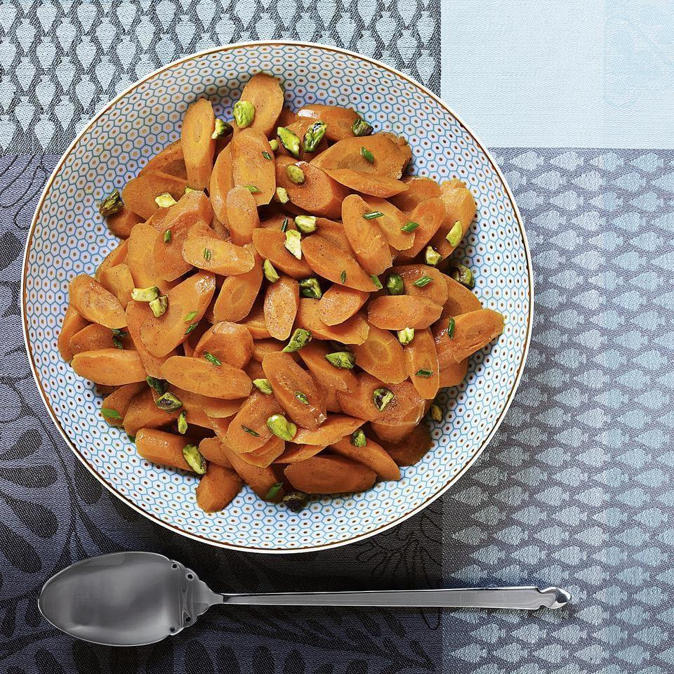 Pomegranate Molasses-Glazed Carrots with Pistachios