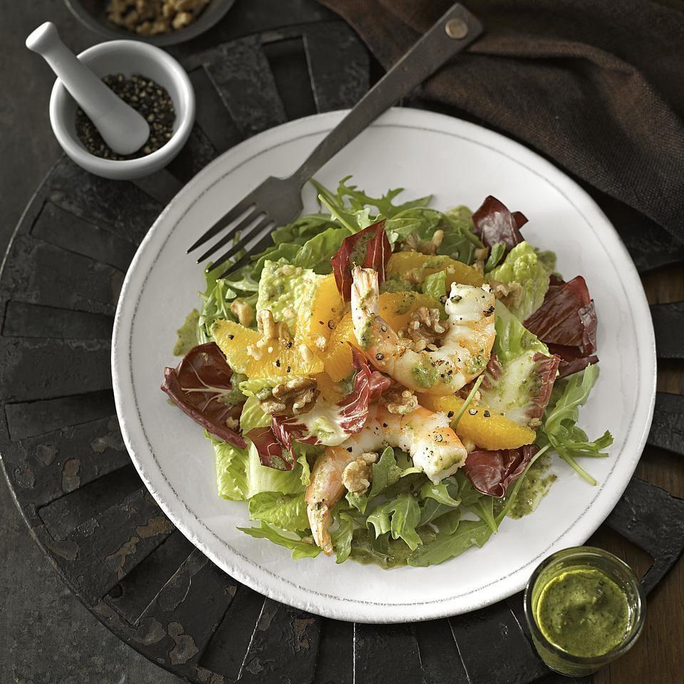 Orange & Black Pepper Shrimp Salad