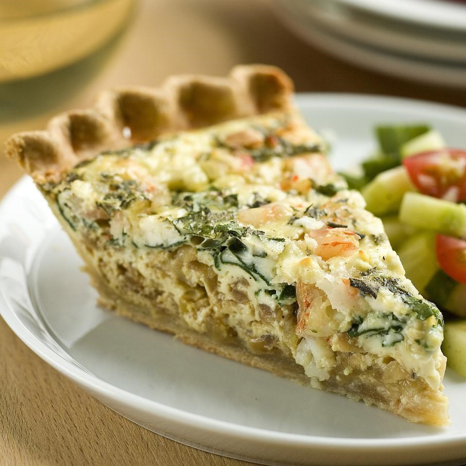 shrimp amp spinach quiche recipe   eatingwell