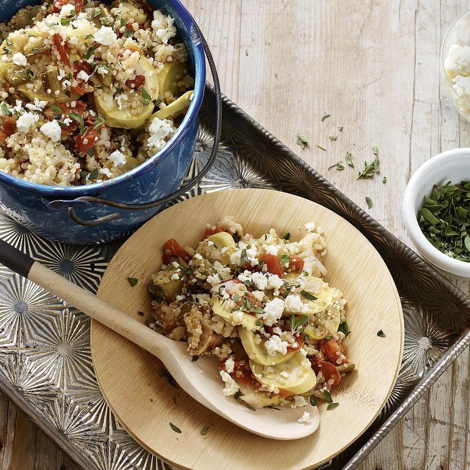 Slow-Cooker Quinoa-Summer Squash Casserole