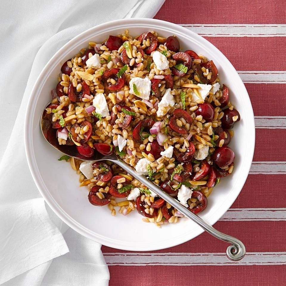 Cherry-Almond Farro Salad