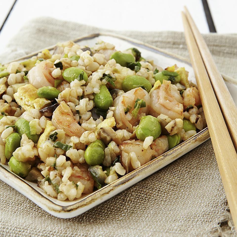 Japanese Shrimp & Eggplant Fried Rice Recipe